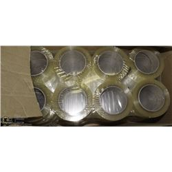 CASE OF 48 ROLLS OF 3M BOX-SEALING/PACKING TAPE