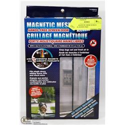 NEW MAGNETIC MESH SCREEN DOOR, HANDS FREE