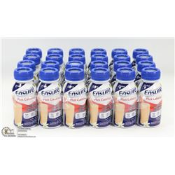 CASE OF 24 VANILLA PLUS CALORIES ENSURE MEAL