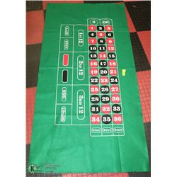 BLACK JACK TABLE COVER.