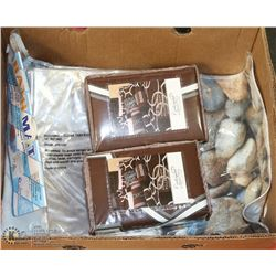 BOX OF NEW HOUSEHOLD ITEMS - BATH TUB MAT, CLEAR