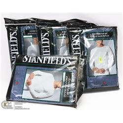 GROUP OF 4 SZ 2XL STANFIELDS THERMAL SHIRTS