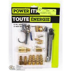 POWER IT 17PC AIR TOOL ACCESSORY KIT