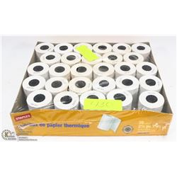 BOX OF THERMAL PAPER ROLLS