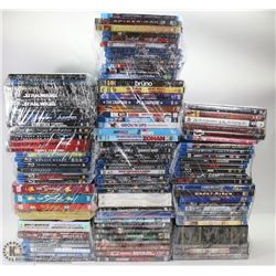 BOX OF ASST DVDS & BLURAYS INCL THE HOBBIT & LORD