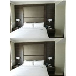 NEW KING SIZE HOTEL BEDFRAME X2  (NO LAMPS)