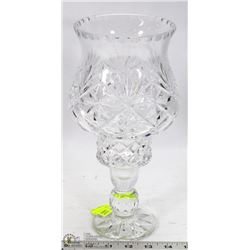 CRYSTAL HURRICANE 2PC CANDLE HOLDER