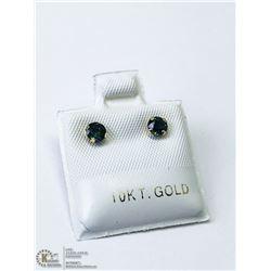 12) 10KT GOLD SAPPHIRE EARRINGS