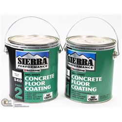 TWO CANS OF CONCRETE FLOOR COATING
