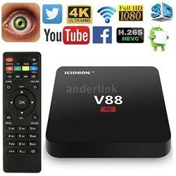 NEW V88 4K ANDROID TV BOX