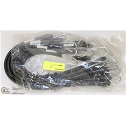 """PACK OF 10 21"""" RUBBER TIE DOWN STRAPS"""