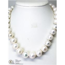 22) STERLING SILVER FRESHWATER PEARL NECKLACE
