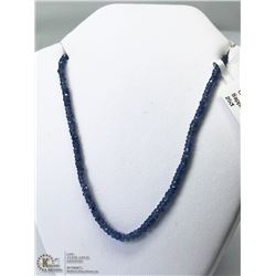 25) 14KT GOLD ENHANCED NATURAL SAPPHIRE NECKLACE