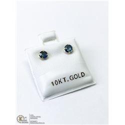 29) 10KT GOLD SAPPHIRE EARRINGS