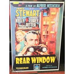VINTAGE DRY MOUNTED MOVIE ADVERTISING POSTER
