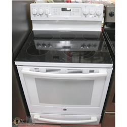 "GE PROFILE WHITE 5 BURNER STOVE 30"" CONVECTION"