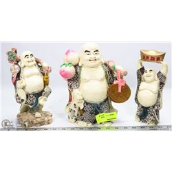 GROUP OF 3 BUDDHA ORNAMENTS