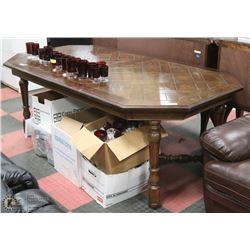 "OAK DININGROOM TABLE 72""X44""X30""H"