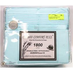 BAMBOO QUEEN SIZE TEAL COMFORT PLUS  1800