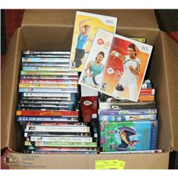 LARGE BOX OF ASSORTED DVDS AND BLURAYS.
