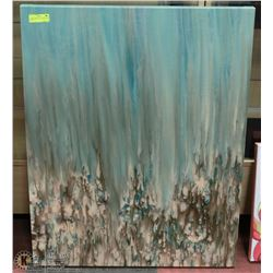 "LARGE ABSTRACT CANVAS PICTURE 38""X30"""