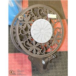 DECORATIVE METAL GARDEN HOSE REEL (MADE IN USA