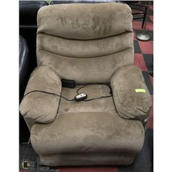 NEW BEIGE FABRIC ELECTRIC RECLINING CHAIR 34""