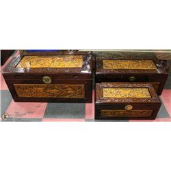 SET OF 3 CHINESE NESTING CHEST/TRUNKS