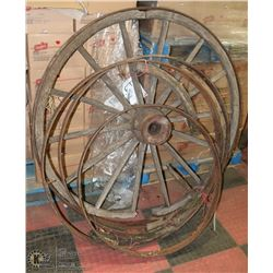 GROUP OF VINTAGE WAGON WHEELS