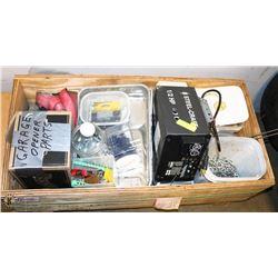 BOX OF MISC CARPENTER MATERIAL