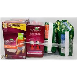 LOT OF 4 ASSORTED INCONTINENCE PADS & BRIEFS PACKAGES