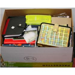 #2) BOX OF DAY PLANNERS, TELEPHONE & ADDRESS