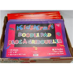 FLAT OF KIDS DOODLE PAPER