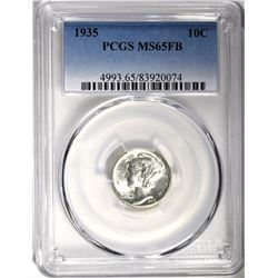 1935 MERCURY DIME, PCGS MS-65 FULL BANDS