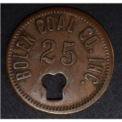 BOLEN COAL CO TOKEN, 1021-F50 R-10 DAYTON OH
