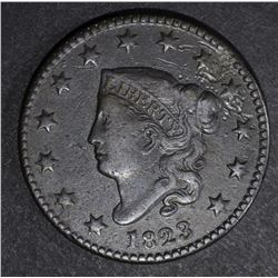 1823 LARGE CENT, VF/XF