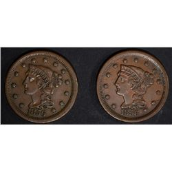 2-1856 LARGE CENTS, XF