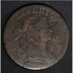 1798 LARGE CENT, VG S-173 rim cud