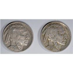 2 - 1931-S BUFFALO NICEKLS AU