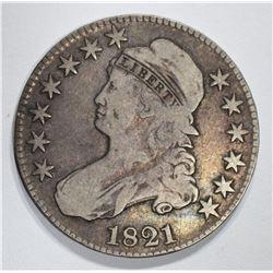 1821 BUST HALF DOLLAR FINE
