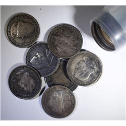 16 COLUMBIAN HALF DOLLARS AVG CIRC