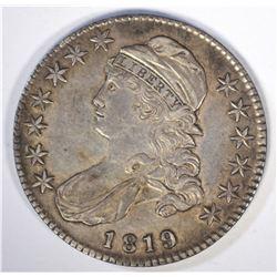 1819 CAPPED BUST HALF DOLLAR XF+