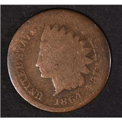 "1864 ""L"" INDIAN CENT, GOOD"