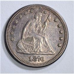 1876 SEATED LIBERTY QUARTER, AU