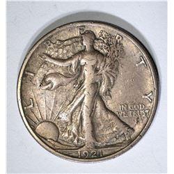 1921-S WALKING LIBERTY HALF, FULL XF RARE KEY DATE