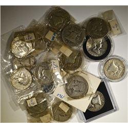 $10 FACE FRANKLIN HALF DOLLARS