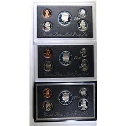 2-1992 Silver Proof Sets & 1-1995 Premier Set