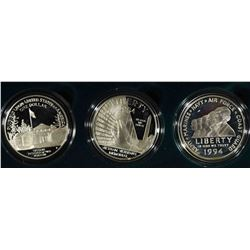 1994 US Veterans Commemorative 3 COIN SET