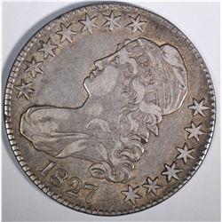 1827 BUST HALF DOLLAR, XF