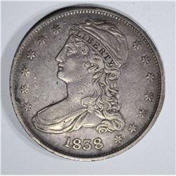 1838 BUST HALF DOLLAR  AU